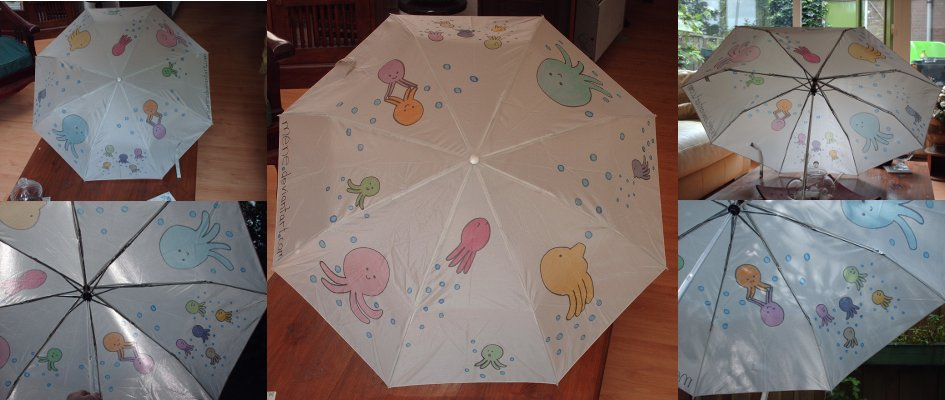 私が描いた傘