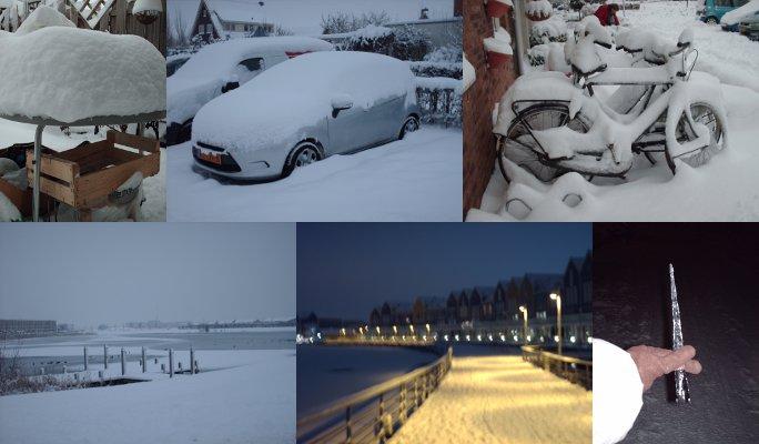 ハウテンで撮った雪の写真