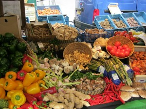 市場:野菜 (groente op de biomarkt)