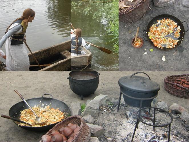 2013年6月22日:Prehistorisch Dorp kano en avondeten / 鉄器時代の船+夕ご飯