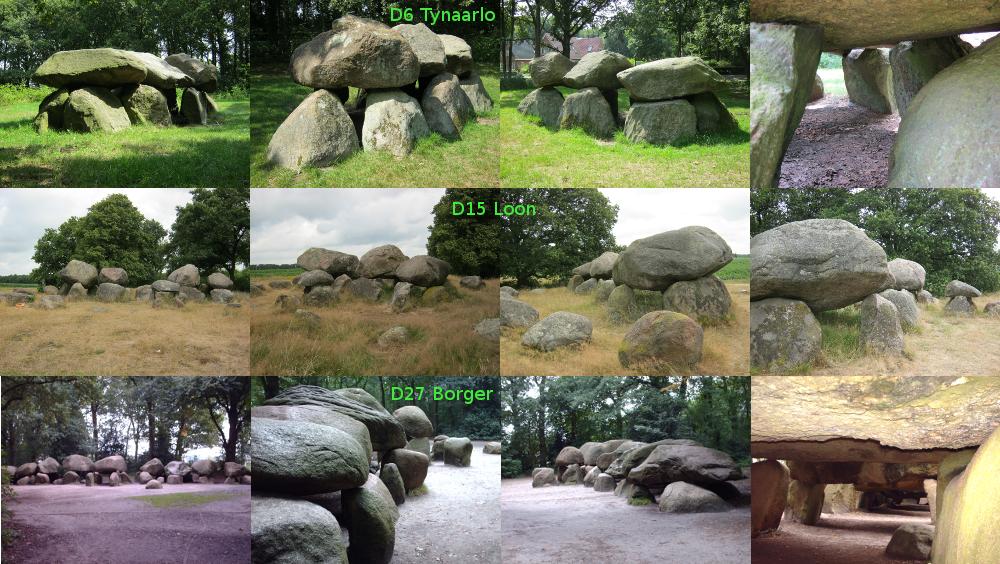 2013年7月:ドレンテ州:支石墓 / Hunebedden / Dolmens