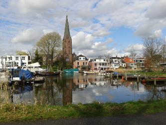 アムステルダムの北にある小さな港.