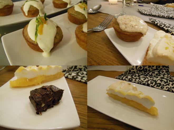 他の作ったケーキ:ズッキーニのマフィン、にんじんのマフィン、チョコレートのファッジ、レモン・メリンゲ・パイ。