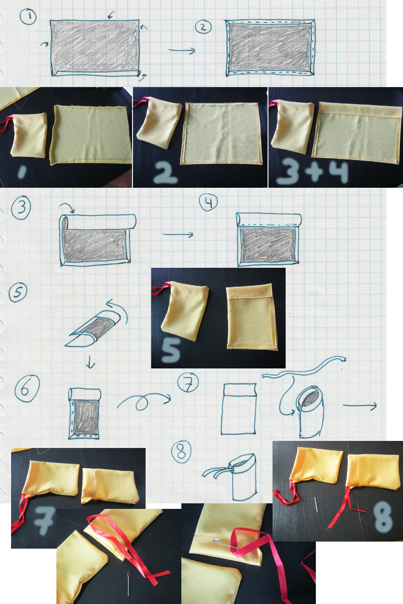 A simple way to make gift bags, explained in pictures without text.