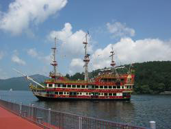 Pirate ship on Lake Ashi.