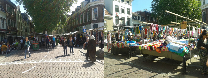 Fabric market in Utrecht