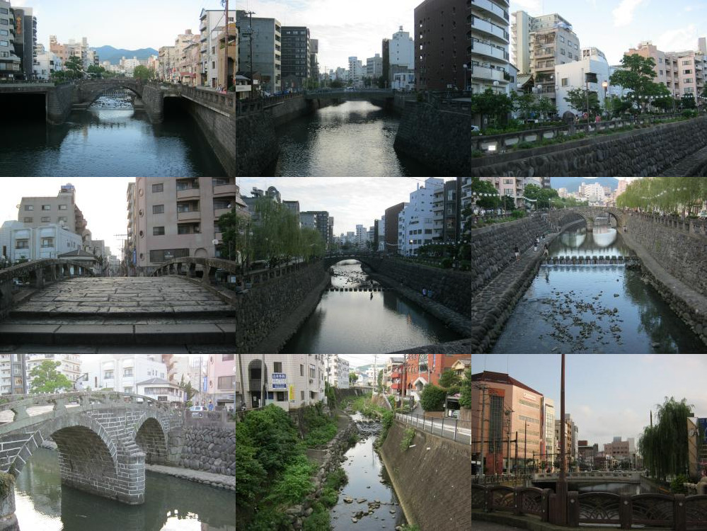 Canals in Nagasaki.