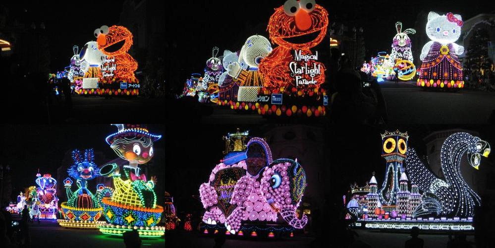 Light parade in Universal Studios Japan (USJ)