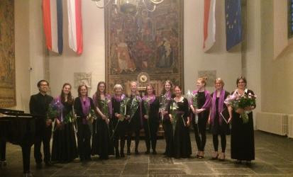 Student women's choir Medusa at their summer concert in the Academy building in Utrecht.