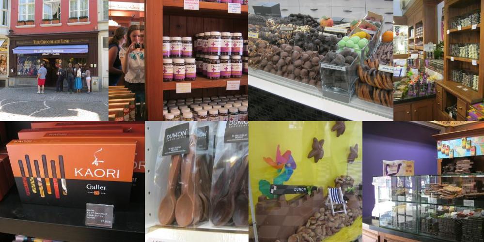 ブルッへのチョコレートの店