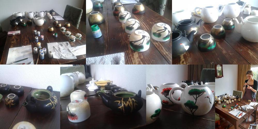 Painting tea sets