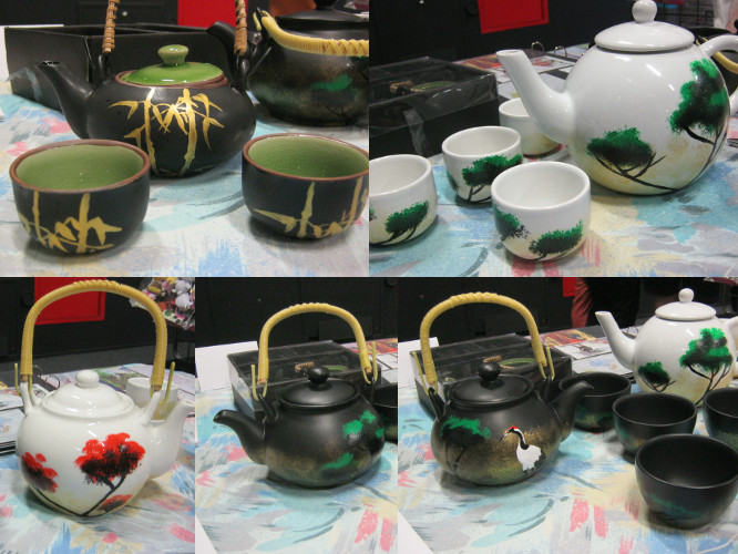 Japanese style tea sets