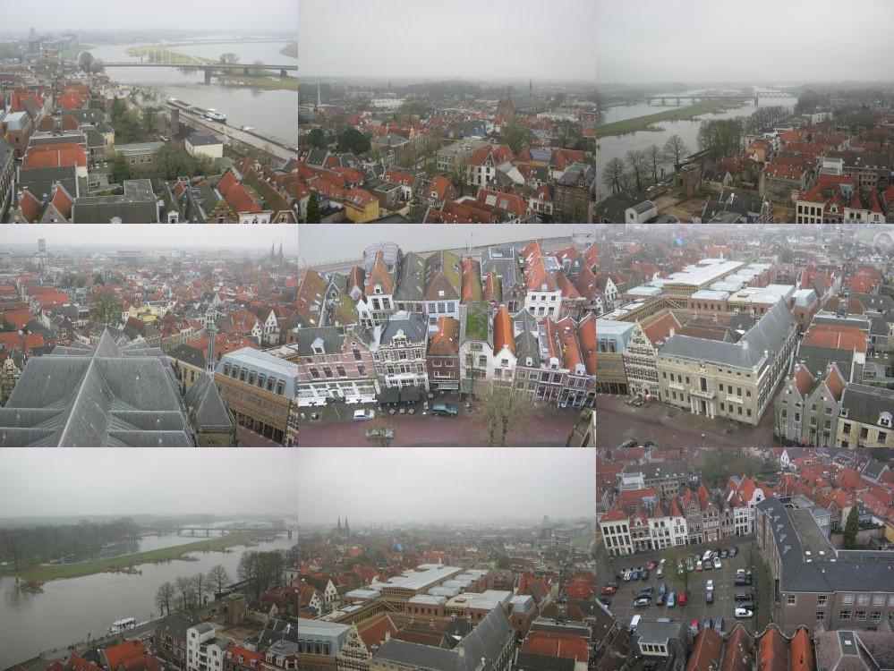 Uitzicht over Deventer vanaf de Grote Kerk