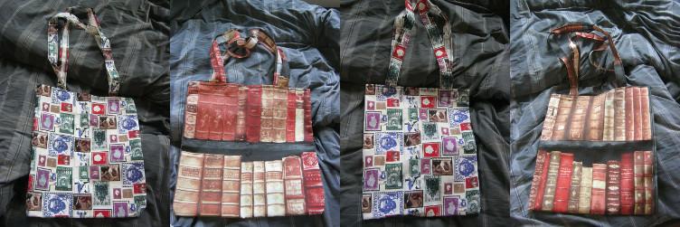 Zelfgemaakte boodschappentassen