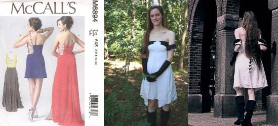 McCall's M6894 aangepaste jurk