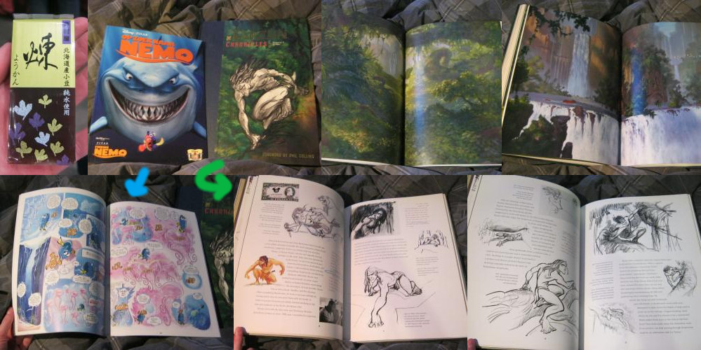 """Finding Nemo"" movie comic and ""The Tarzan Chronicles"" book"