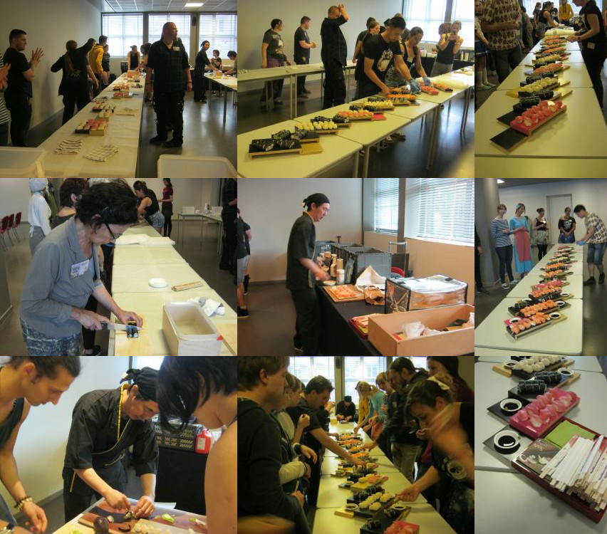 Sushi workshop van Taji op Animecon 2016