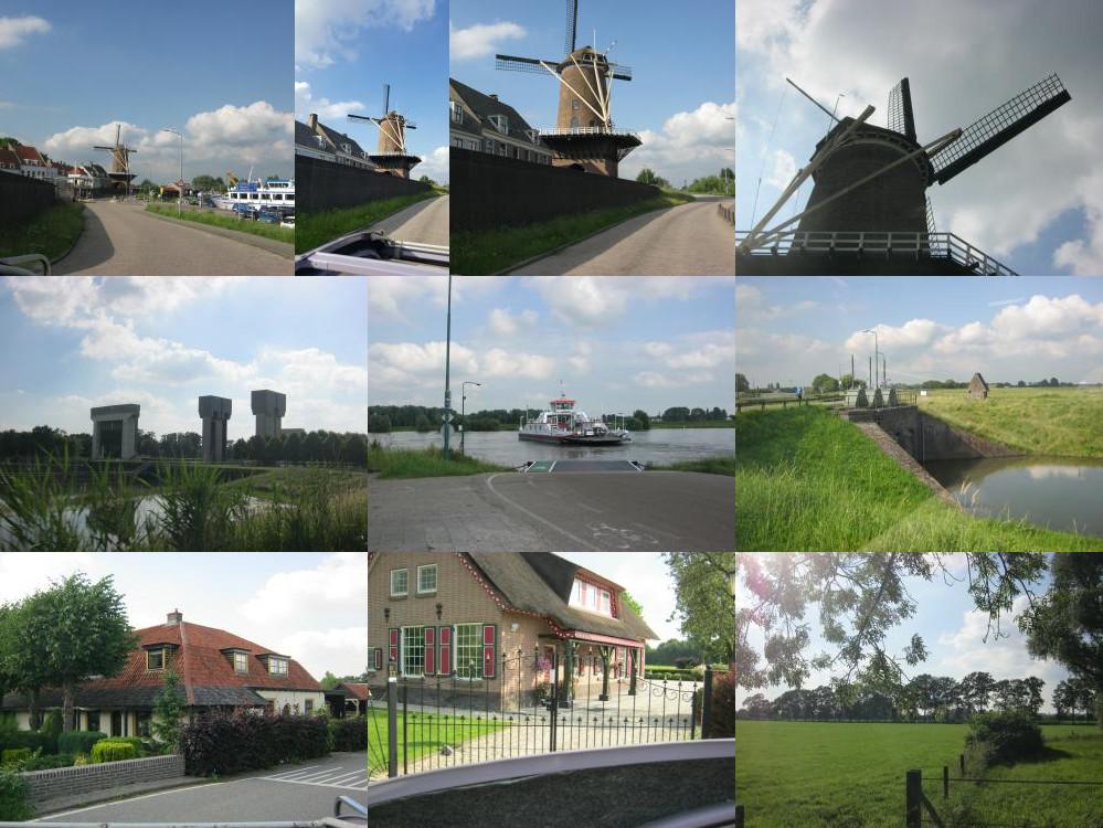 Eendje rijden: molen, Wijk bij Duurstede, sluizen