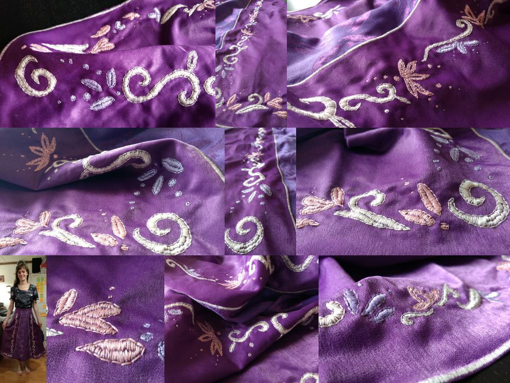 Details of the embroidery.