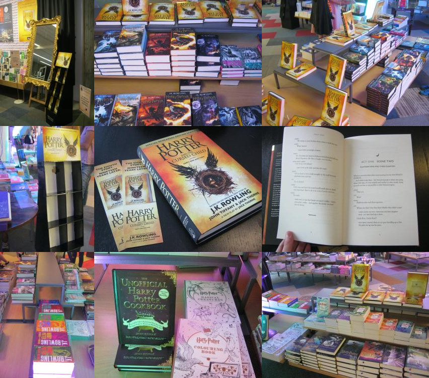 Harry Potter books. The store had 400 books, opened between 11 and 12, and was sold out at 14 o'clock! 150 books had been reserved, 250 books were for normal sale.