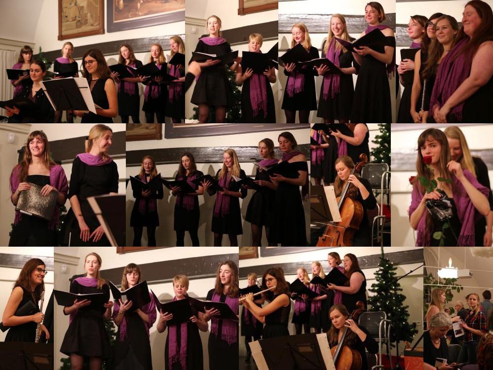 Studentenvrouwenkoor Medusa, winterconcert 2016 in het Bartholomeus Gasthuis te Utrecht, samen met Ensemble Coronis.