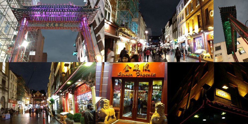 Chinatown London by night