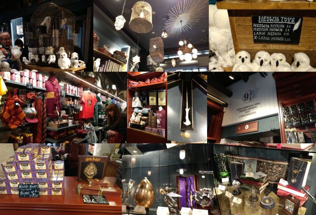 Harry Potter store at King's Cross station.