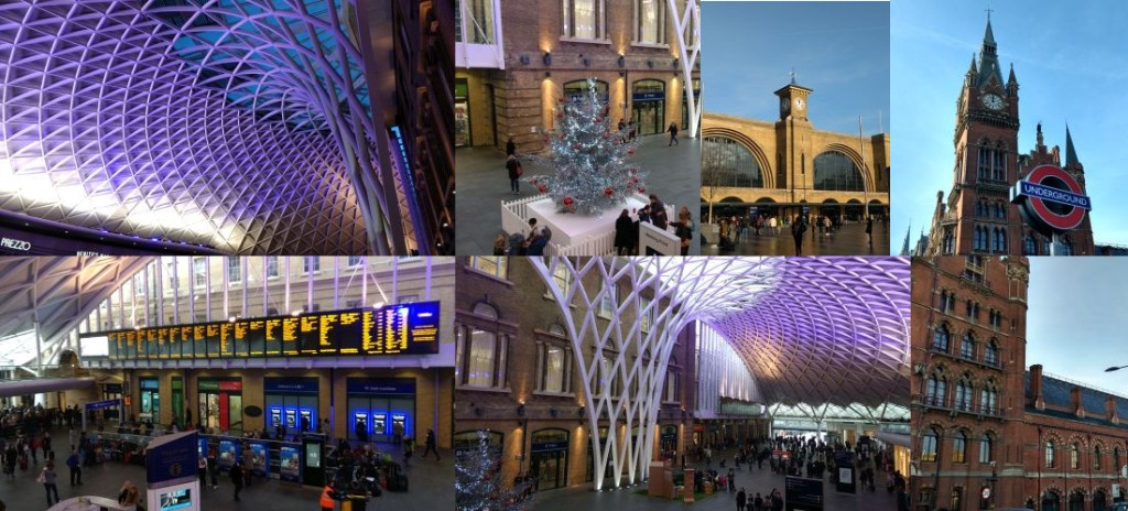 King's Cross and St. Pancras station.