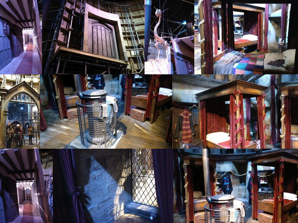 Gryffindor rooms in the Harry Potter Studios