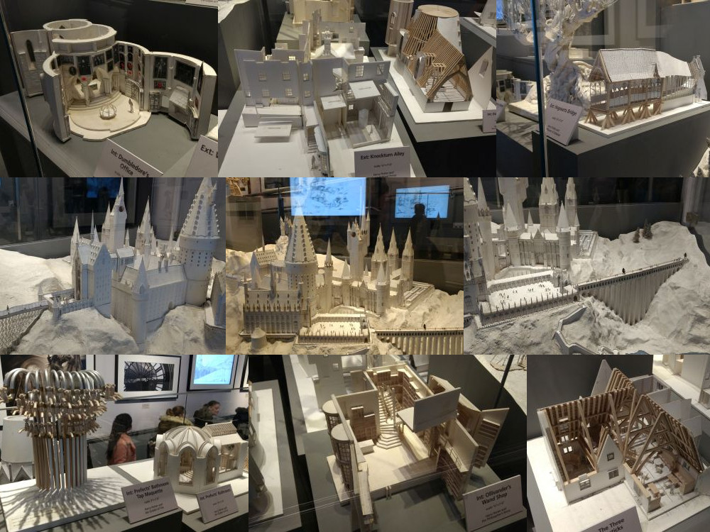 Paper models from the world of Harry Potter
