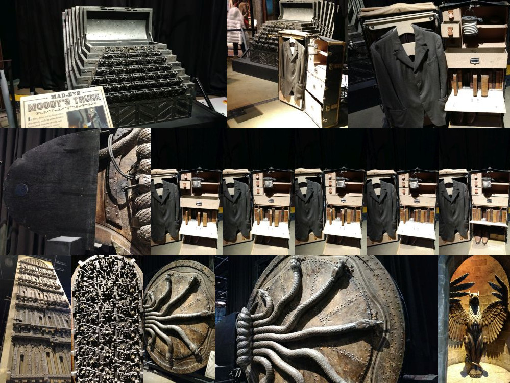 Magical suitcases in the Harry Potter Studios