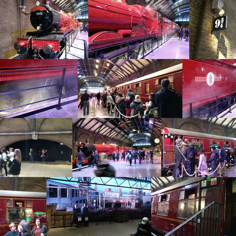 King's Cross Station in the Harry Potter Studios, Leavesden, London