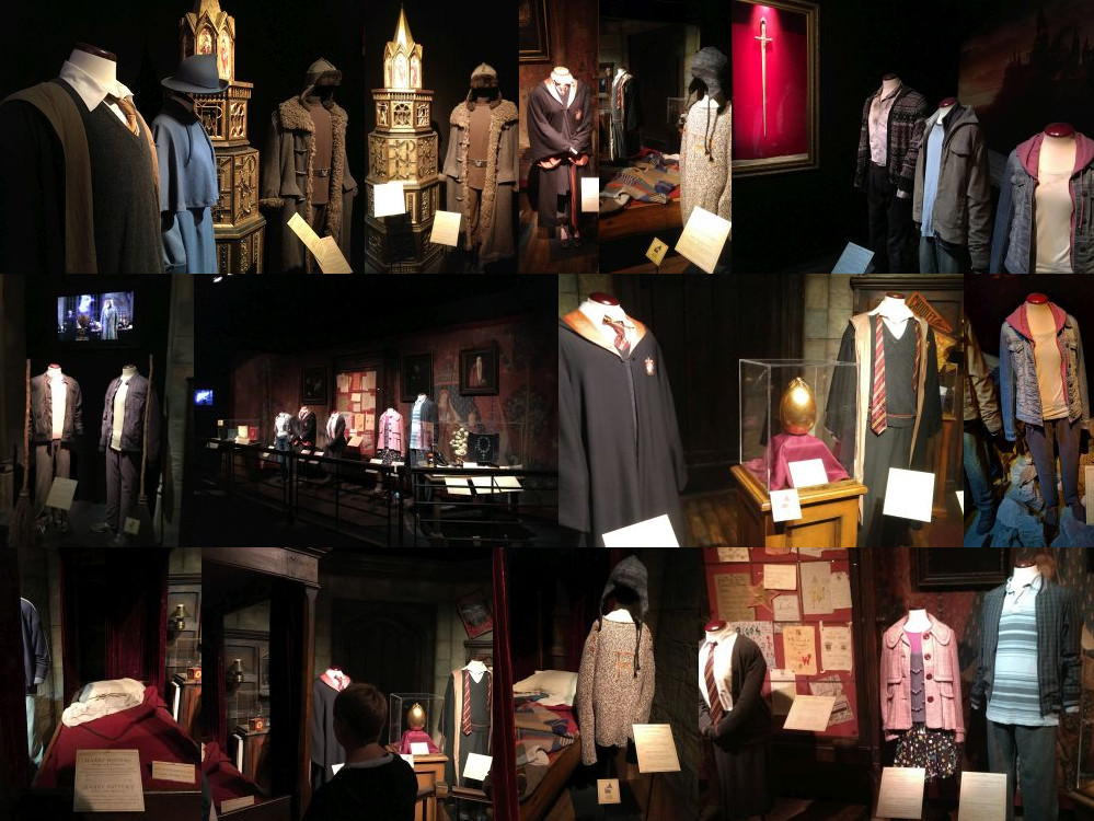Clothes at the Harry Potter Exhibition, Utrecht