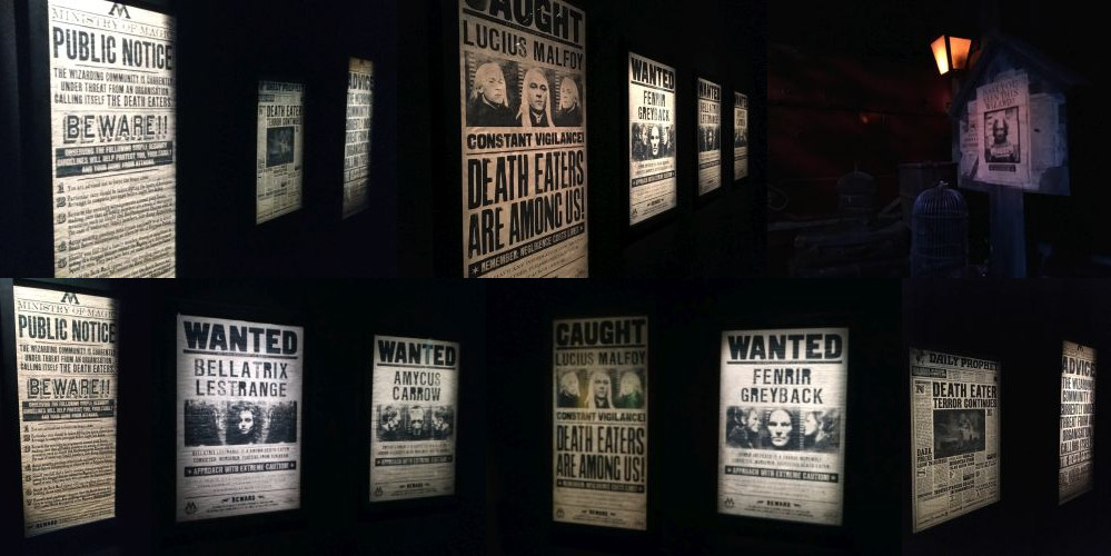 Posters at the Harry Potter Exhibition, Utrecht