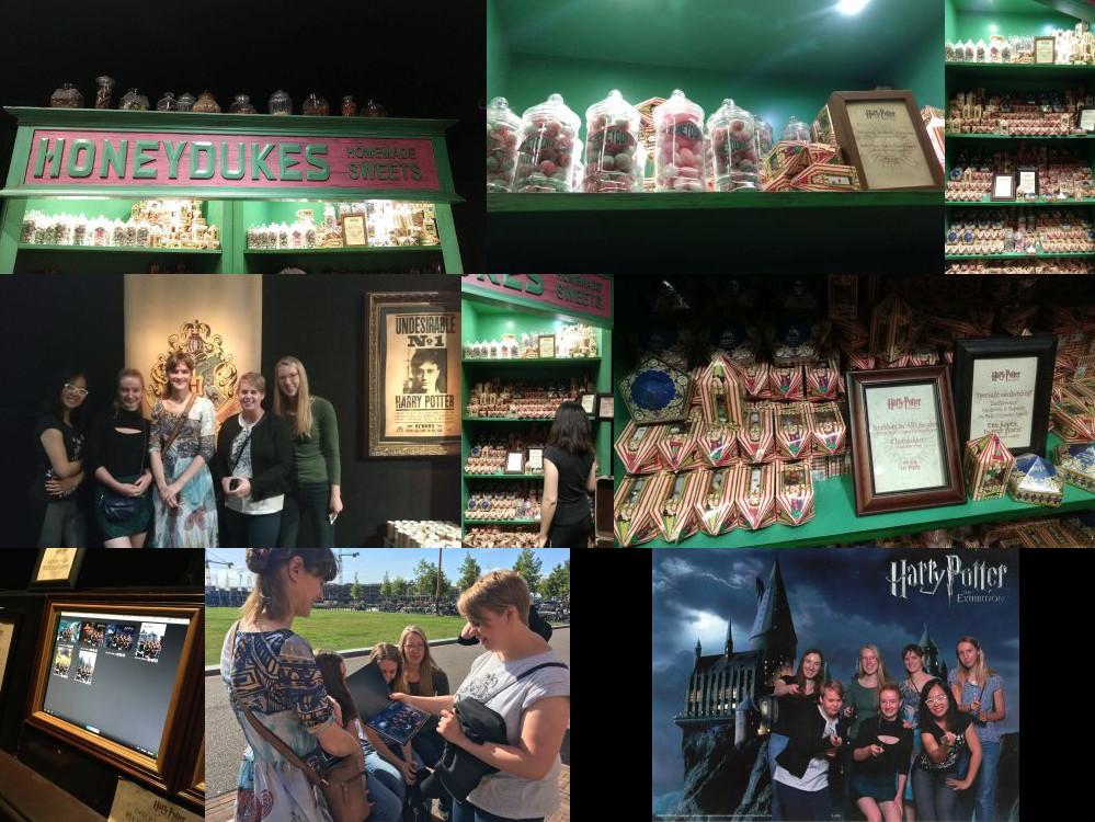 Souvenir shop at the Harry Potter Exhibition, Utrecht