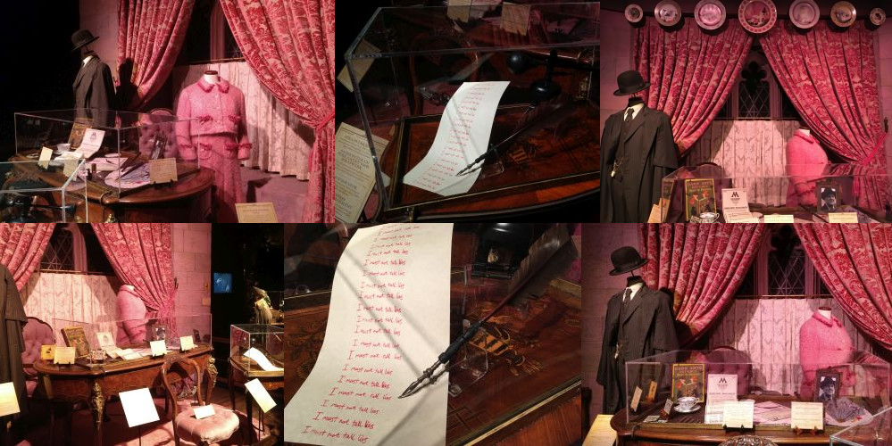 Dolores Umbridge at the Harry Potter Exhibition, Utrecht