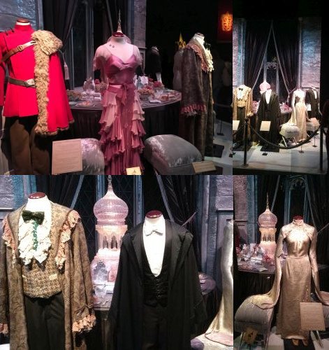 Yule Ball clothing at the Harry Potter Exhibition, Utrecht