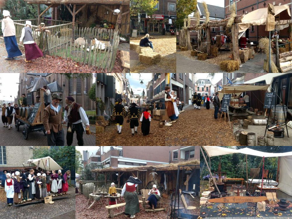 Dutch reenactment of the 17th century village Grolle.