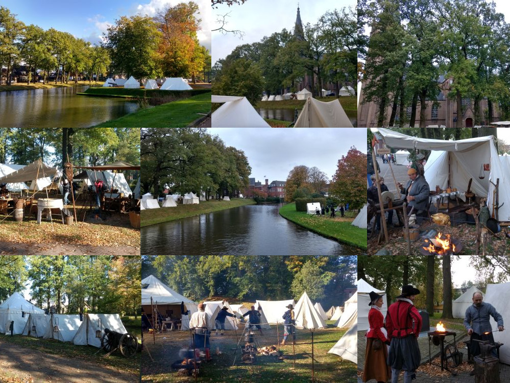 Re-enactors from all over the world came to Grolle.