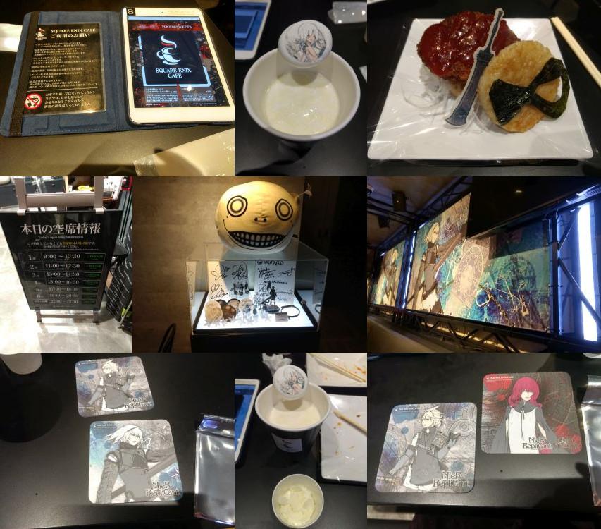 Square Enix Cafe Nier Automata food