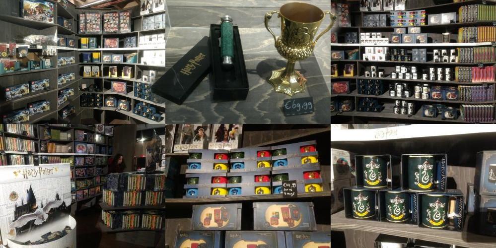 Bekers in de Harry Potter-winkel Utrecht