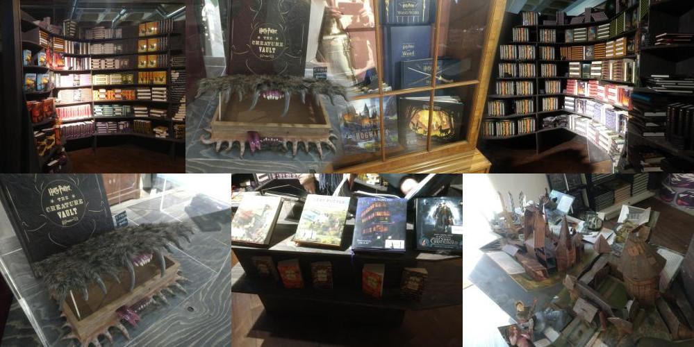 Boeken in de Harry Potter winkel Utrecht