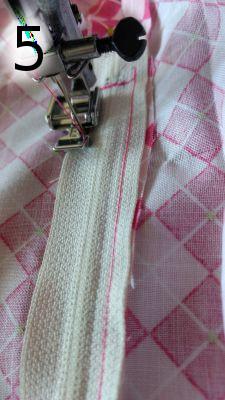 Putting in a zipper