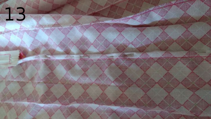 Making the inside of the fabric pretty.