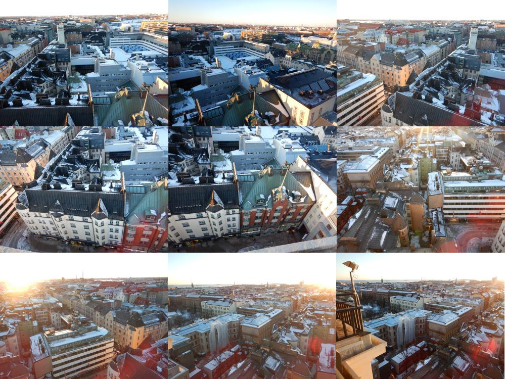 Helsinki van bovenaf