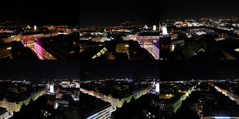 Helsinki from above, by night.