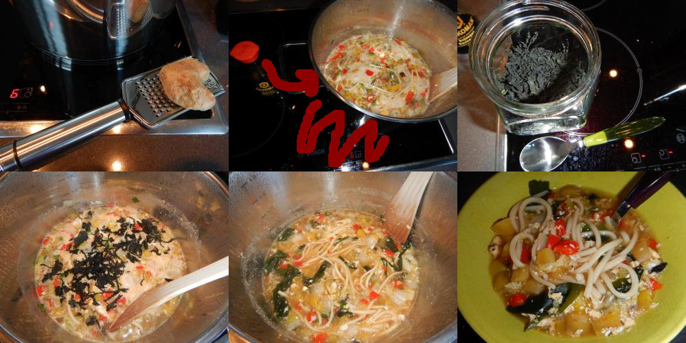 Udon soup as you can make it in The Netherlands