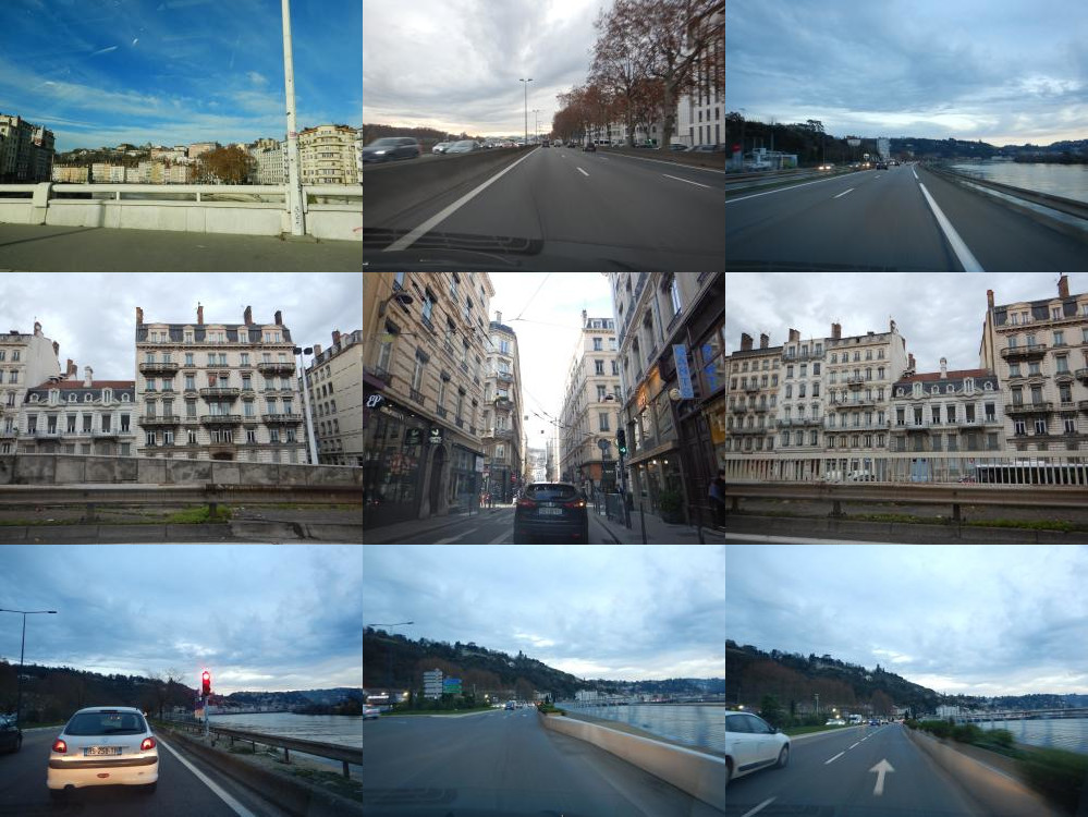 Driving around in Lyon
