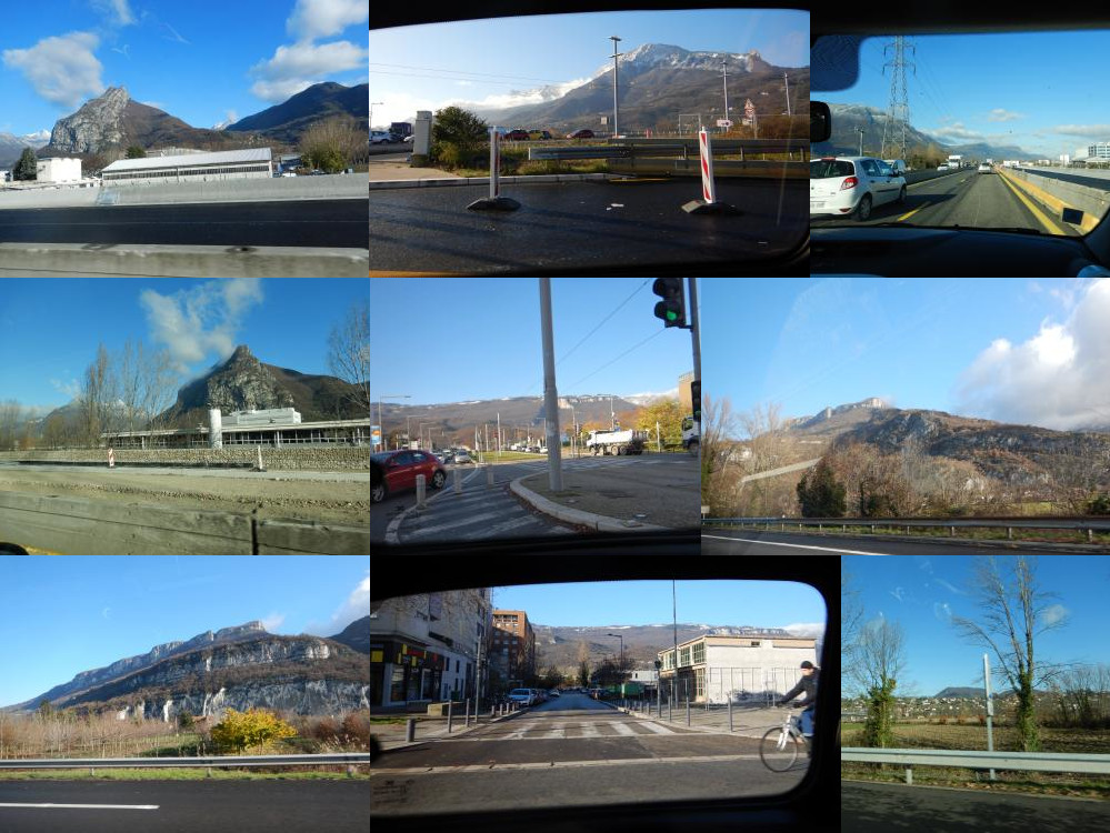 Driving around in Grenoble