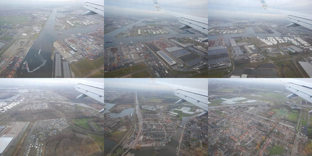The Netherlands as seen from an airplane
